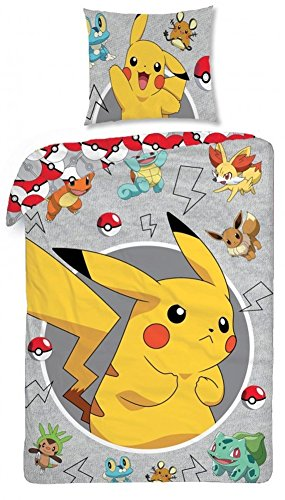 Funda nordica edredon Pokemon Pikachu 140x200cm 100