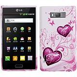 Rocina TPU Case Schutzhülle für LG P700 / P705 Optimus L7 Herzen pink weiß