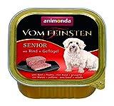 Animonda vom Feinsten Hundefutter Senior mit Rind + Geflügel, 22er Pack (22 x150 g)