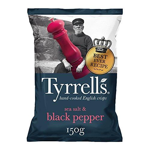 Tyrrell's, Patata de bolsa (Sal Marina y Crujiente Pimienta Negra) - 12 de 150 gr. (Total: 1800 gr.)
