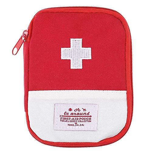 TLZR Reisemedizin-Aufbewahrungstasche Emergency Kit Bag Früher Aufbewahrungsbox Aus Baumwolle Und Leinen Schere Für Zuhause Mit Deckel Dicke red,Large -
