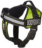 Dogline Unimax multifunktionsunterhemd Geschirr für Hunde und 2Abnehmbaren Bodyguard Patches, groß, grün