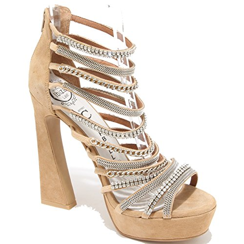69954 sandalo JEFFREY CAMPBELL SHAKIRA scarpa donna shoes women Beige