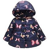 cinnamou Kleinkind-Baby-Schmetterlings-Mantel-Winter-warme Starke Jacke mit Kapuze Windproof Coat