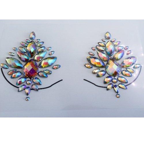 Ltd Kostüm London - Sommer Festival Glitter Joy Brust Edelsteine   Temporäre Tattoo Juwel Diamante Karneval Kostüm