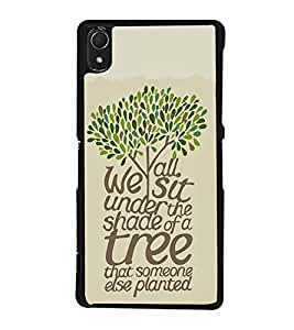 FUSON Under Shade Of Tree Designer Back Case Cover for Sony Xperia Z3 :: Sony Xperia Z3 Dual D6603 :: Sony Xperia Z3 D6633