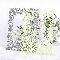 Calistouk DIY Plantillas de corte fabricadas arte mariposa con metal, ideales para decoración y manualidades en papel