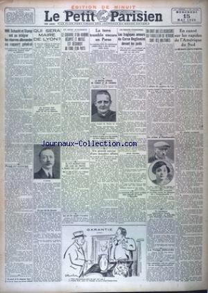 PETIT PARISIEN EDITION DE MINUIT (LE) [No 19069] du 15/05/1929