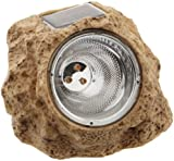 Star 11.5 cm x 15 cm  LED-Solar-Rock with Solar Panel and Rechargeable Battery - Warm White (3 Pieces)