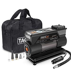 TACKLIFE M1 Compressore Portatile per Auto - 40L/Min Mini Pompa Elettrica a Basso Rumore, 150PSI Manometro Digitale Preciso, 120W DC12V, Preselezione e Spegnimento Automatico 9 spesavip