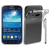 ebestStar - Cover Compatibile con Samsung Grand Plus Galaxy GT-i9060I, Grand Lite Custodia Trasparente Silicone Gel TPU Protezione Morbida +Penna, Trasparente [Apparecchio: 143x77.1x9.6mm 5.0']