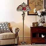 YXTK LED Classique Lampadaire Armature en Métal Protection des Yeux Creative Design Lumière Blanche Lampe sur Pied pour Chambre, Salon, Bureau, B Style, 60CM Diameter