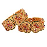 Zeneme Gold Plated Bangle Set For Women