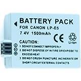 Nueva Batería recargable Li-on recargable LP-E5 para Canon EOS 1000D, EOS 450D, EOS 500D, EOS T1i, EOS Xs, EOS Xsi