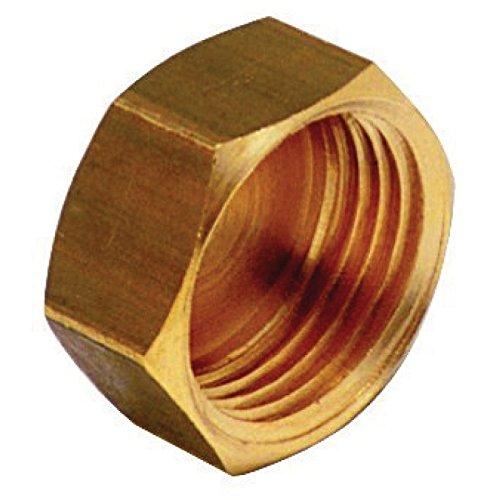 bouchon en laiton à visser - femelle - 12 x 17 - sachet de 10 pièces