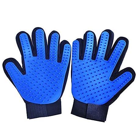 Tancurry 2 Stück Soft Haustier Massagehandschuh Bürste Handschuh Deshedding Glove Tierhaare entfernen Pflegenbürste