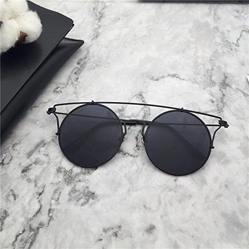 LXKMTYJ Sonnenbrille Frauen Wild Skinny Sonnenbrille Persönlichkeit Gläser Tide, Schwarz