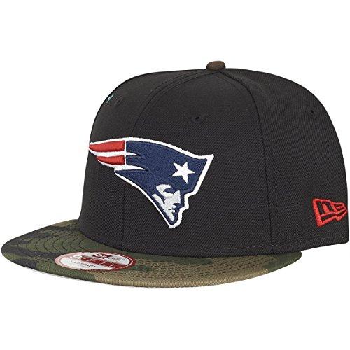 New Era EMEA 9Fifty Snapback New England Patriots Schwarz Camouflage, Size:S/M
