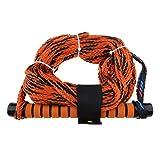non-brand MagiDeal 1 Stück Orange Sports Wasserskileine Leine Wakeboard Seil Hantel Rope Abschleppseil mit Griff