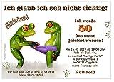 Moderne Einladungen zum Geburtstag 18 20 25 30 40 mit Spruch - cool lustig Wunschtext ändern - Frösche Frosch - 30 Karten DIN A6