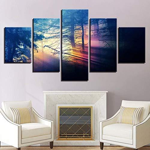 Art Poster drucken gemälde Mode - 5 - Panel Landschaft modulare leinwand Wand Bilder für das Wohnzimmer zu Hause.