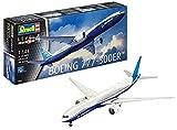 Revell- Boeing 777-300ER Kit di Modelli in plastica, Escala 1:144, Colore Non Verniciato, 04945