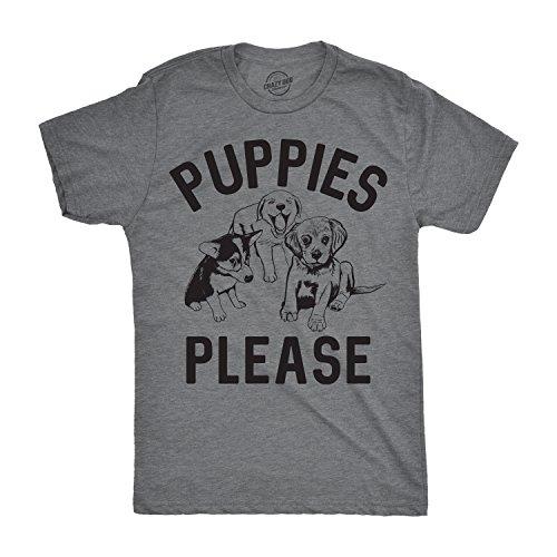Crazy Dog Tshirts Mens Puppies Please Tshirt Cute Adorable Dog Lover Tee For Guys -XXL - Herren - XXL (T-shirt Puppy Tee)