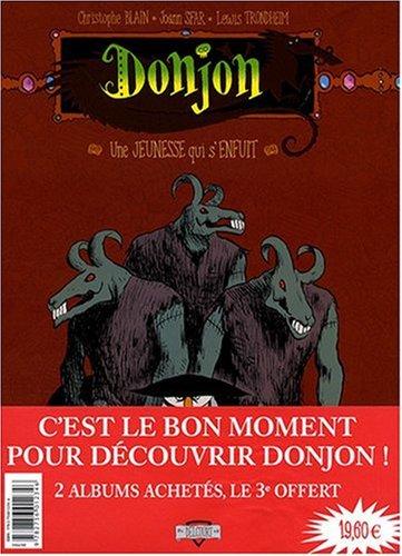 Donjon Potron-Minet : Pack en 3 volumes : Tome 97, Une jeunesse qui s'enfuit ; Tome 98, Un justicier dans l'ennui ; Tome 99, La chemise de la nuit