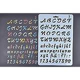 Amupper Pochoir Guide de lettres pour enfants–Plastique Souple Dimensions 25,9x 17cm, Plastique, SILVER, letterring02
