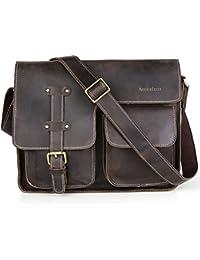 Koolertron-Sac à main &sac bandoulière en cuir homme multi-poches sac de message