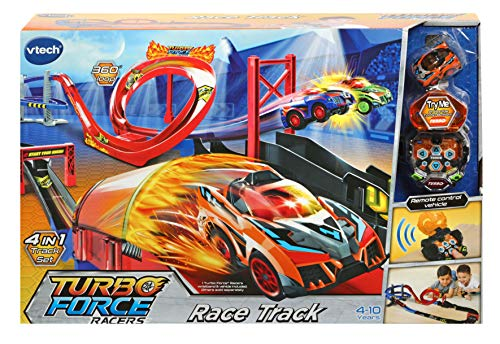 VTech Turbo Force Racers Car Race Track, Kids Car Toy Play Set Inc. Turbo Force Racer Car, Car Tracks for Kids, Boys & Girls 4, 5, 6, 7+ Year Olds