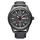 Daesar Reloj Impermeable Relojes Calendario Reloj Multifunción Reloj Hombre Reloj Deporte al Aire Libre Reloj Deportivo Reloj Quartz Negro Blanco