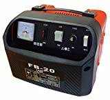 Autobatterie-Ladegerät 12V   24V für Auto und Motorrad Batterien mit Stahlblechgehäuse und Tragegriff