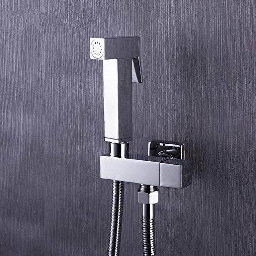 FZHLR 1/2 Zoll Doppelventil Doppel Outlet Messinghand Toilette Bidet Anal Dusche Reiniger Bidet Hochdruck Duschkopf Armaturen