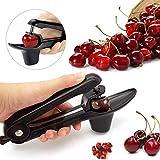 HAIT Portable Cherry Pitter Corer Removal Core Spremere Morsetto Seeder Per Utensili Da Cucina (Nero)