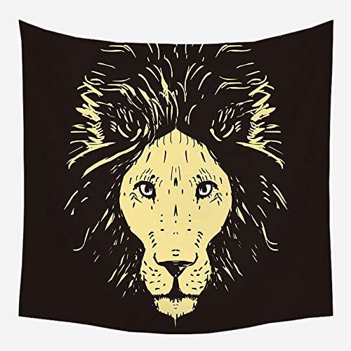 xkjymx Tapisserie Sun Series Home Hanging Tapestry Wandbehang Tapisserie Dekotuch WTE-8 150 * 200 (Sahne Quadratischen Tischdecken)