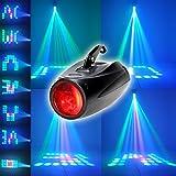 XINBAN 10W RGBW Akustisch Gesteuerte Bühnenbeleuchtung mit 64 LEDs und Halterung.Ultra Hellen Lichtstrahl und Multi Muster,LED Projektor Leuchte als Theaterbeleuchtung Effektlicht
