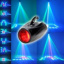 10W XINBAN Bühnenbeleuchtung RGBW acústico gestionada con 64 LEDs y soporte.Ultra luminoso rayo de luz y Multi dibujos,LED proyector luz como Theaterbeleuchtung Effektlicht