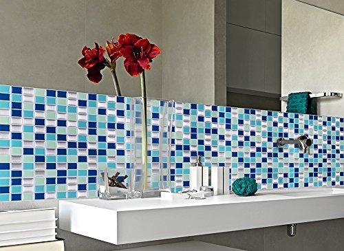 Grandora 4 set mosaico 3d adesivo per piastrle w5200 for Mosaico adesivo 3d