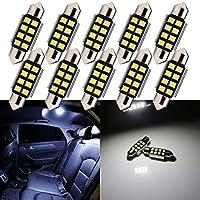 TABEN 10pcs White T10 BA9S Festoon LED 24SMD 1210 Panel Auto Car Interior Dome Map RV Trailer Light 12V