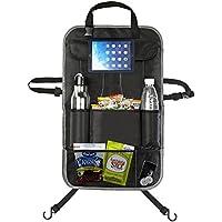 emiup Cargo multitasche, Organizer per sedile posteriore auto con built-in per iPad/Tablet Storage Kick Mat Protezioni per Auto, SUV, tronco, Passeggino