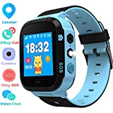 Niños Smartwatch - GPS/LBS Position Tracker Child SOS Help Relojes de Pulsera Cámara Digital Mobile Cell Phone Watch niños para niñas (GM9 Azul)