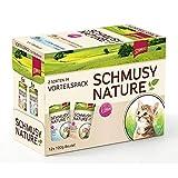 Schmusy Nature Pouch, Multipack Kitten Kalb+Geflügel+Lachs+Lamm