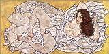 Posterlounge Acrylglasbild 180 x 90 cm: Liegende Frau von Egon Schiele - Wandbild, Acryl Glasbild, Druck auf Acryl Glas Bild