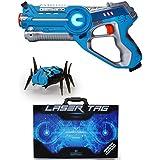 Dynasty Laser Tag Set for Kids, Striker Pack (1 Blaster / 1 Bug) - with Collectible Storage Case
