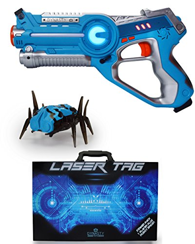 DYNASTY LASER TAG Laser-Tag-Set für Kinder, Schlägerpackung (1 Blaster / 1 Käfer) (Bug-spielzeug Für Jungen)