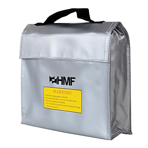 HMF 44147 LiPo Guard, Fireproof Bag, Battery Safety Bag, 23,5 x 20 x 6 cm