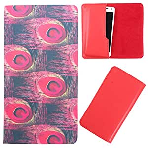 DooDa - For Spice X-Life 364 PU Leather Designer Fashionable Fancy Case Cover Pouch With Smooth Inner Velvet