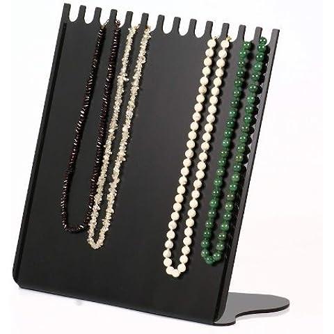 Espositore verticale Mailand per collane, catene, gioielli, collier e bracciali, nero