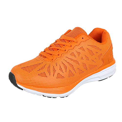 Ital-Design, Sneaker donna Arancione (Arancione fluo)